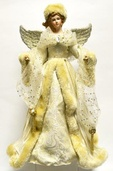 "16"" Champagne and White Angel Tree Topper"