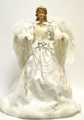 "16"" White Angel Tree Topper"