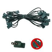 "24' C7 Commercial Light Stringer, SPT1 Green Wire, 26"" Spacing"