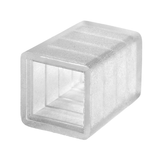 "2-Wire, Square Mini (3/8"" x 3/8""), End Caps"