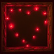 18 Red Battery Operated LED Fairy Lights, Green Wire