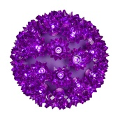 "6"" Starlight Sphere, 50 Purple LED Lights"