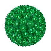 "7.5"" Starlight Sphere, 100 Green LED Lights"