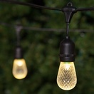 54' Commercial Patio String with 24 Suspended S14 Warm White LED Outdoor Patio Lights