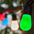 54' Commercial Patio String with 24 S14 Multicolor Party Lights