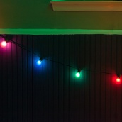 15' Outdoor Patio String with 15 G50 Multicolor Party Lights