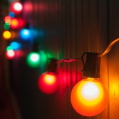 99' Outdoor Patio String with 50 G50 Multicolor Party Lights