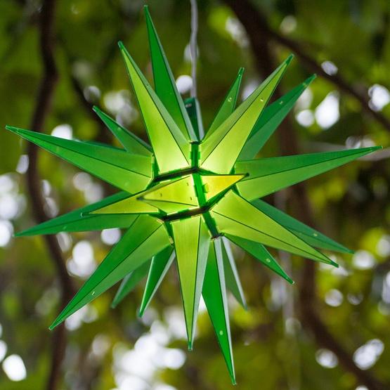 "14"" Green Moravian Star"