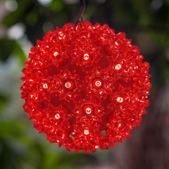 """6"""" Starlight Sphere, 50 Red LED Lights"""