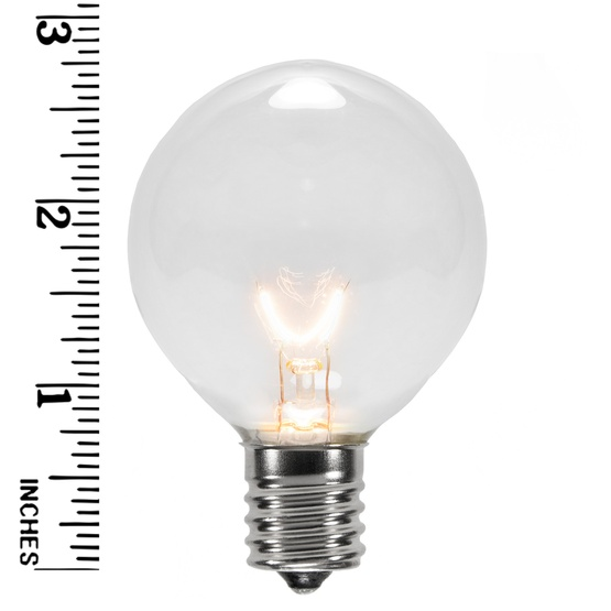 G50 Transparent Clear, 7 Watt Replacement Bulbs