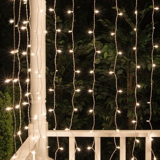 Christmas Icicle Light 150 Lite Curtain Mini Light Set