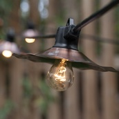35' Patio String with 7 A15 Clear Outdoor Patio Lights