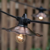 48' Patio String with 15 A15 Clear Outdoor Patio Lights