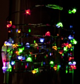 36 Multicolor Battery Operated LED Fairy Lights, Green Wire