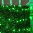 M5 4'x6' Pure Green LED Net Lights, Green Wire
