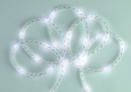 15' Battery Power White Mesh Rope LED Fairy Lights
