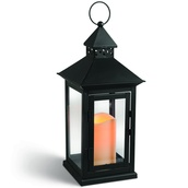 "15"" Candle Lantern with a Square Peaked Roof"