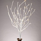 "39"" White Branches with Warm White LED Lights, 2 pc"