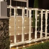 5MM 4'x6' Warm White LED Net Lights, White Wire