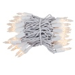 "100 Clear Mini Christmas Lights, 4"" Spacing, Premium, White Wire"