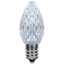 C7 Cool White OptiCore LED Christmas Light Bulbs