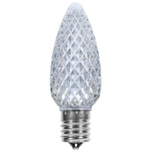 C9 Cool White OptiCore LED Christmas Light Bulbs