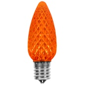 C9 Amber / Orange OptiCore LED Christmas Light Bulbs