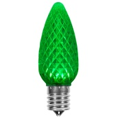 C9 Green OptiCore LED Christmas Light Bulbs