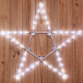"32"" LED Folding Star Decoration, 50 Cool White Lights"