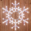 "36"" LED Folding Shimmering Snowflake Decoration, 105 Cool White Twinkle Lights"