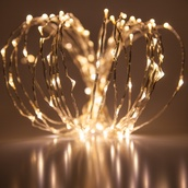 20' Warm White LED Fairy Light String