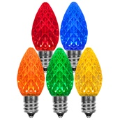 C7 Multicolor OptiCore LED Christmas Light Bulbs