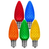 C9 Multicolor OptiCore LED Christmas Light Bulbs