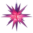 "14"" Purple LED Moravian Star"