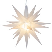 "14"" Clear Frosted LED Moravian Star"
