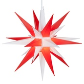"14"" Red and White LED Moravian Star"