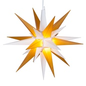 "14"" Gold and White LED Moravian Star"