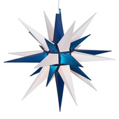 "14"" Blue and White LED Moravian Star"