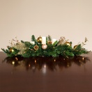 "42"" Royal Gold  Candle Centerpiece With Battery Operated  Lights"