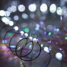 36 Cool White Battery Operated LED Fairy Lights, Green Wire