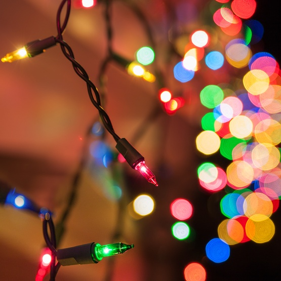 Red Battery Operated Christmas Lights
