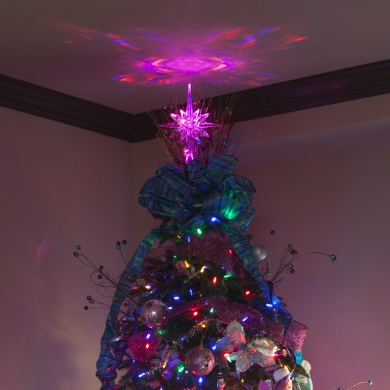 Lighted Christmas Star Tree Topper