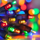 20 Multicolor Battery Operated 5mm LED Christmas Lights, Green Wire