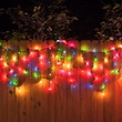 150 Multi (Red, Green, Pink, Blue, Yellow) Icicle Lights - Green Wire