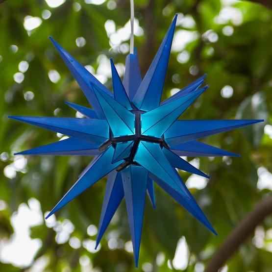 "14"" Blue LED Moravian Star"