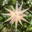 """14"""" White LED Moravian Star"""