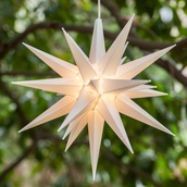 "14"" White LED Moravian Star"