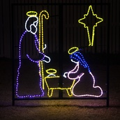 LED Nativity Manger Scene