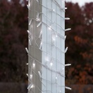 """6"""" x 15' LED Column Wrap Lights - 150 Cool White Lamps - White Wire"""