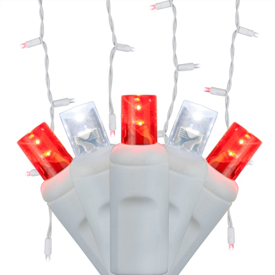 Led Christmas Lights 70 5mm Red Cool White Led Icicle